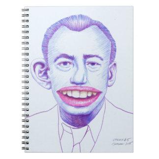 Upscale #5 Colored Pencil Art Portrait Man Teeth Notebook