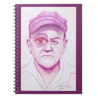 Upscale #6 Colored Pencil Art Portrait Man Eye Notebook