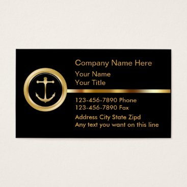 Bride Themed Upscale Boating Business Cards