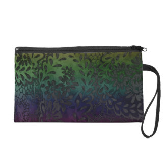 """Upscale Bohemian"" Psychedelic Ombre Wristlet"
