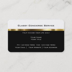 Concierge business cards zazzle upscale concierge businesscards business card colourmoves