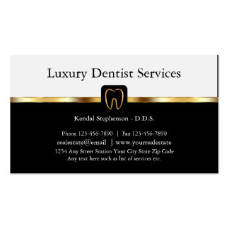 Upscale Dentist Business Cards