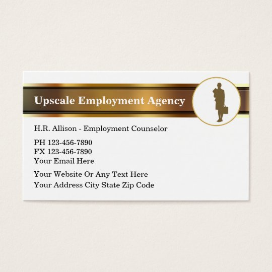 Upscale Employment Agency Business Cards