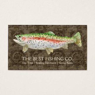 Upscale Fishing Charter Boat Guide Business Fish Business Card