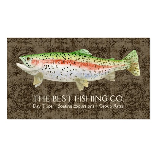 Upscale fishing charter boat guide business fish business for Fishing charter business cards