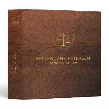 Lawyer Themed Upscale lawyer office brown leather look and gold binder