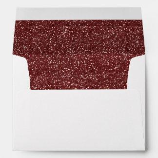 Upscale Marsala Glitter Look Glam Style Wedding Envelope