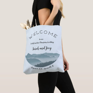 Upscale Misty Mountain Wedding Welcome Bag