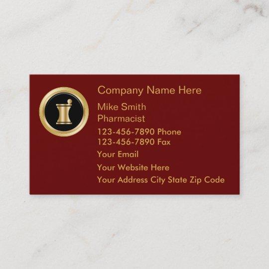 Upscale Pharmacy Business Cards Zazzle