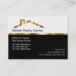 Luxury real estate business cards zazzle upscale real estate broker business cards reheart Images