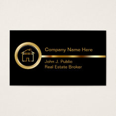 Upscale Real Estate Business Cards at Zazzle