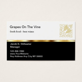 Upscale Restaurant Business Cards