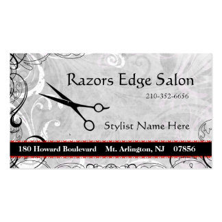 Upscale Salon Flourishes Appointment Business Card