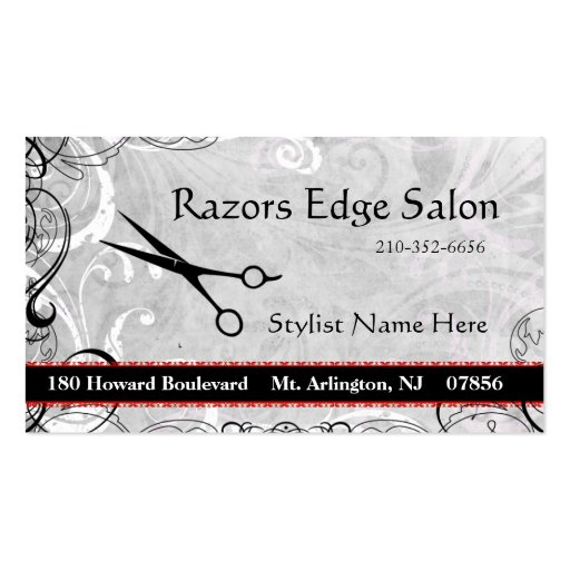 Upscale salon flourishes appointment business card zazzle for Upscale business cards