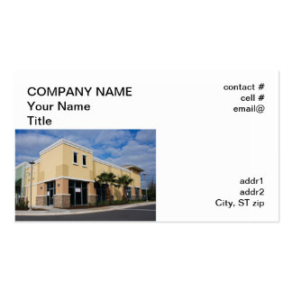 Upscale Strip mall Business Card