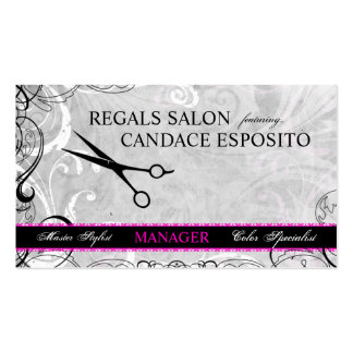 Upscale Swirls and Fluers Salon Business Card