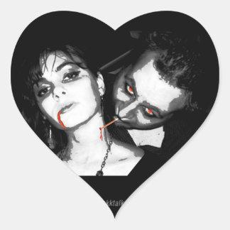 Upscale Vampire... Heart Sticker