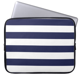Upscale Venetian Venice Blue White Stripe Pattern Computer Sleeve