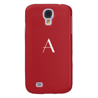 Upsdell Red w/White Monogram Galaxy S4 Cover