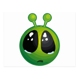 Upset alien postcard