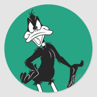 Upset DAFFY DUCK™ Classic Round Sticker