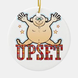 Upset Fat Man Ceramic Ornament