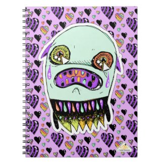 Upset Ghost Monster Notebook