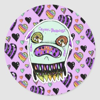 Upset Ghost Monster Stickers