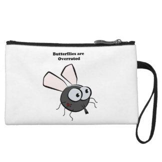 Upset Mosquito Funny Bug Cartoon Wristlet Wallet