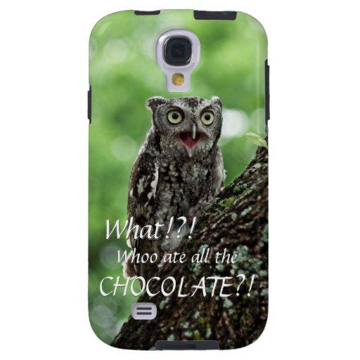 Upset Owl photo Galaxy S4 case