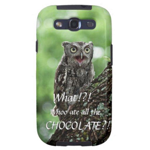 Upset Owl photo Galaxy S III case Galaxy SIII Case