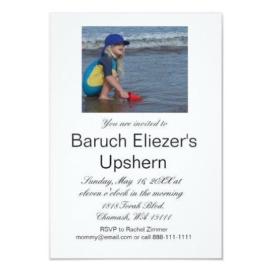 Upshernish Invitation Upshern Upsherin Invitations Zazzle Com