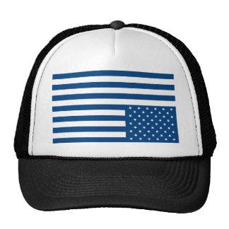 Upside Down American Flag - Blue Mesh Hat
