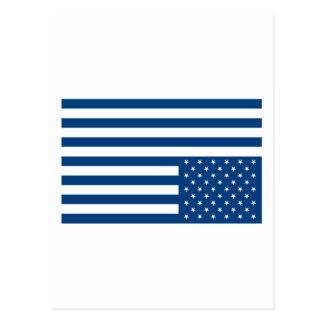 Upside Down American Flag - Blue Postcard