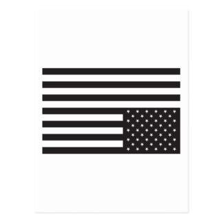 Upside Down American Flag in Black. Post Cards