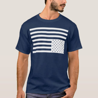 Upside Down American Flag in Black. T-Shirt