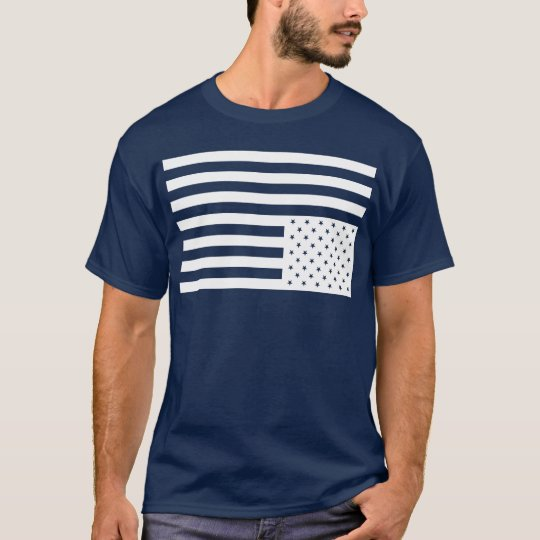 Upside Down American Flag in Black. T-Shirt