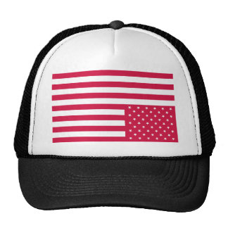 Upside Down American Flag - Red Mesh Hats