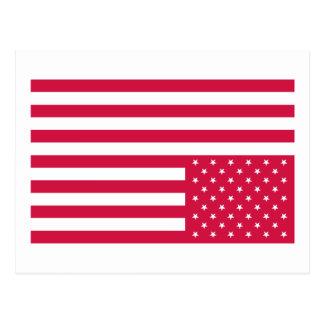 Upside Down American Flag - Red Postcard