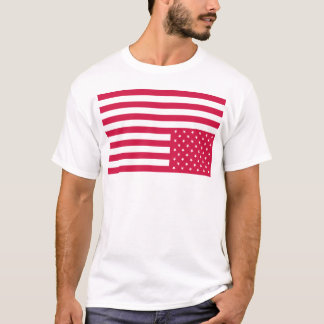 Upside Down American Flag - Red T-Shirt