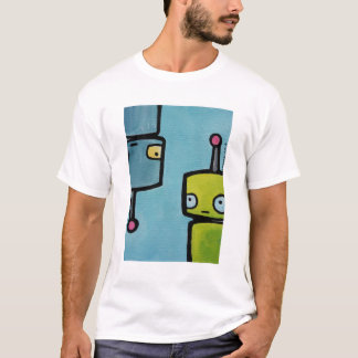 Upside Down And Right Side Up Robots T-Shirt