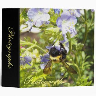 Upside Down Bumble Bee 3 Ring Binder