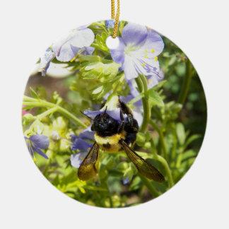 Upside Down Bumble Bee Ceramic Ornament