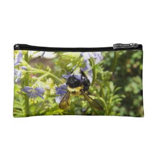 Upside Down Bumble Bee Cosmetic Bag