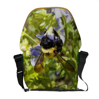 Upside Down Bumble Bee Courier Bag