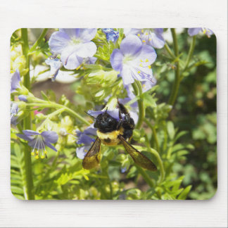 Upside Down Bumble Bee Mouse Pad