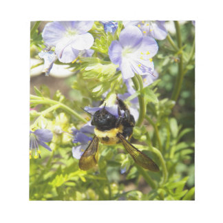 Upside Down Bumble Bee Notepad