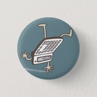 Upside Down Calculator Hello Retro Flair Pinback Button