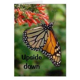 Upside down card