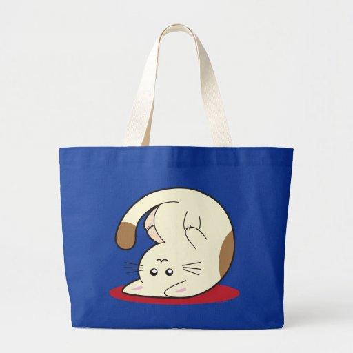 Upside Down Cat Jumbo Tote Bag